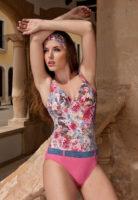 Jednodielne kvetované plavky s kosticou Timo 8354/61306