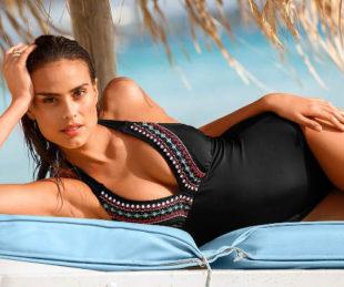 Glamour jednodielne plavky s vyberateľnými penovými vypchávkami