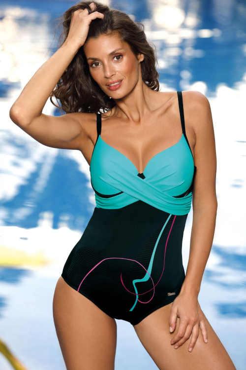 Moderné plavky s efektívnym prekrížením v prednej časti