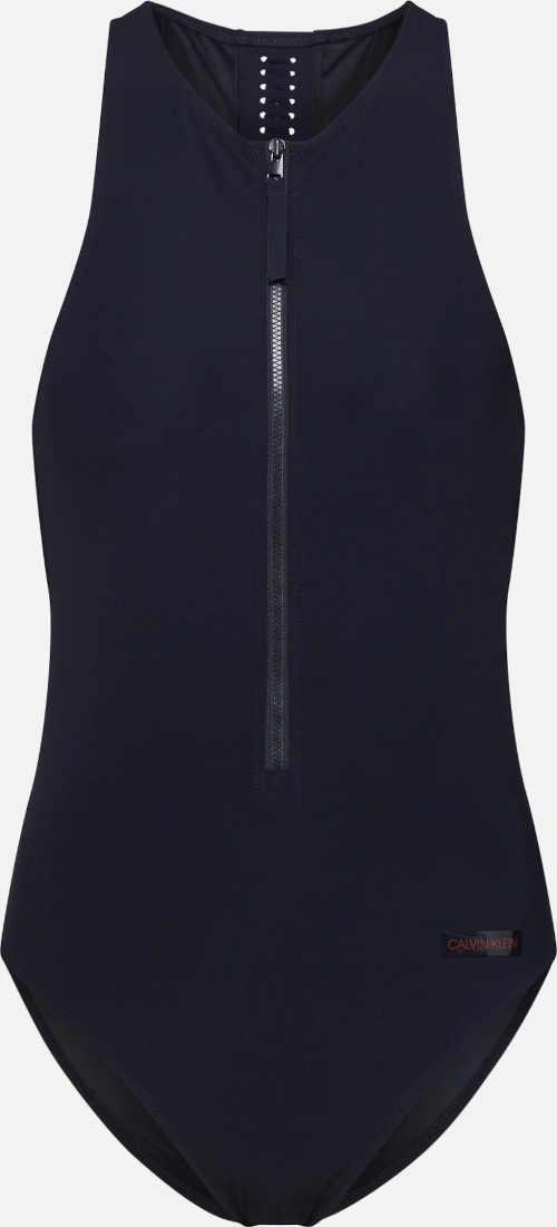 Športové dámske plavky Calvin Klein na zips