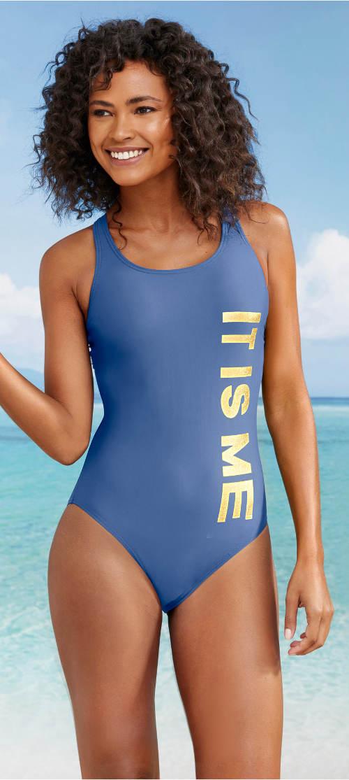Športové jednodielne plavky IT IS ME
