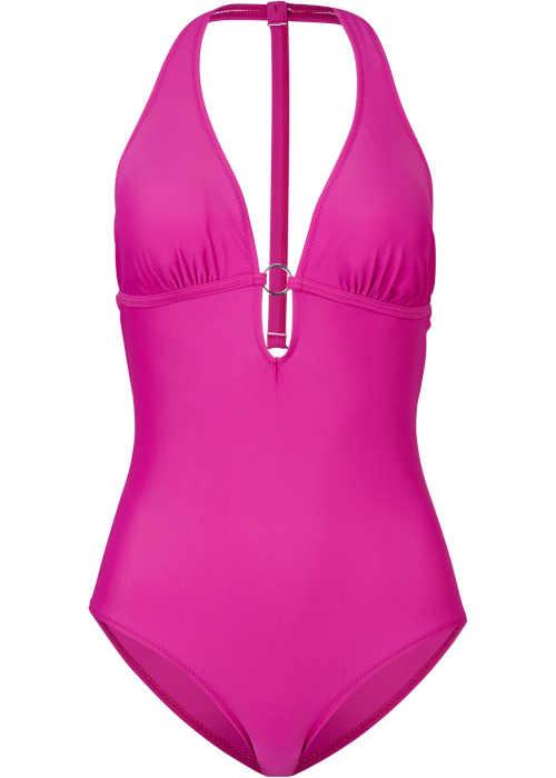 Štýlové plavky vo výraznej farbe so sexy výstrihom