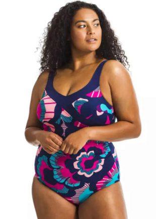 Zoštíhľujúce dámske plavky v modernom farebnom dizajne
