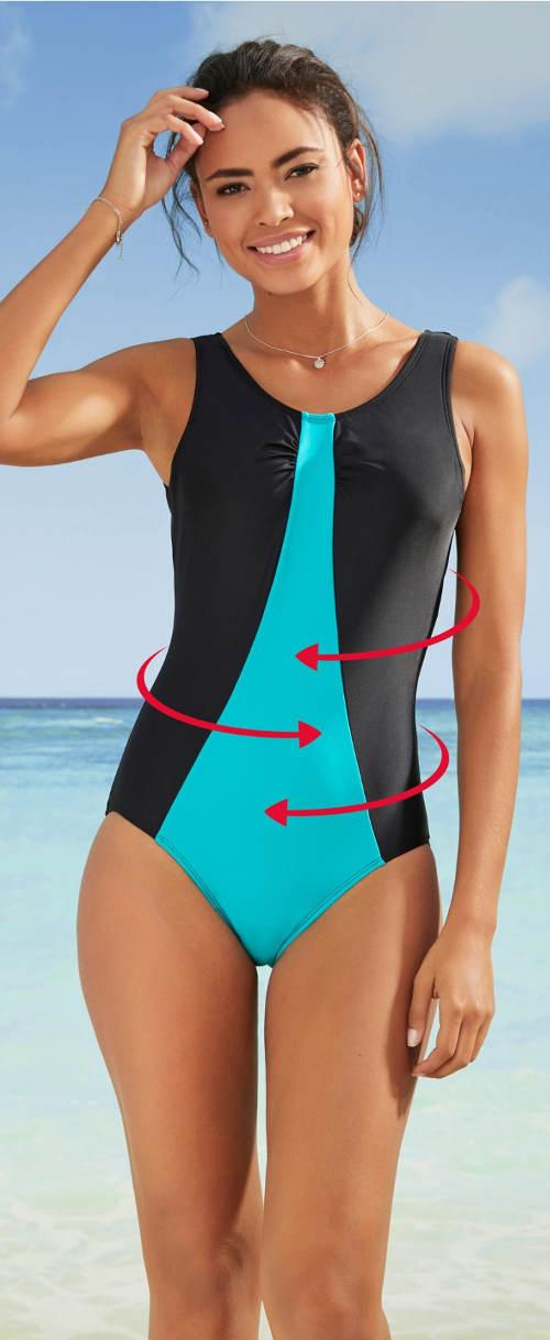 Zoštíhľujúce športové jednodielne dámske plavky