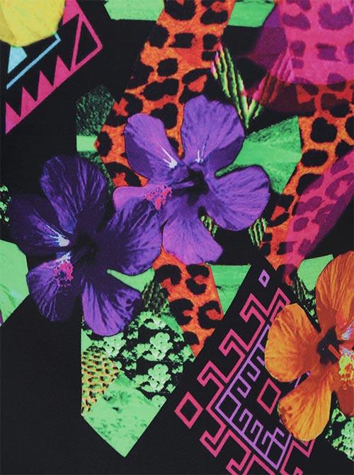 Farebná kvetinová potlač