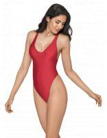 Jednodielne sexy tangá v pôsobivej červenej farbe